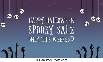 Happy Halloween spooky sale only this weekend animation
