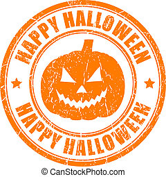Happy halloween stamp