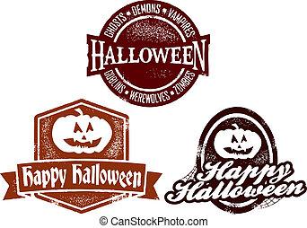 Happy Halloween Stamps