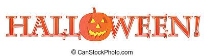 Happy Halloween text design