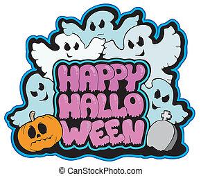 Happy Halloween theme 3 - vector illustration.