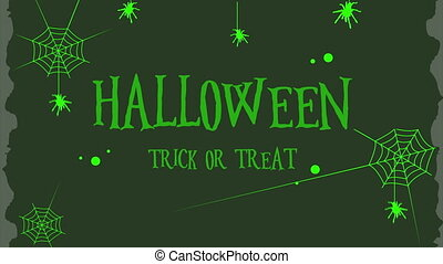 Happy Halloween trick or treat background