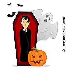 Happy pumpkin cartoon emoji character waving for greeting