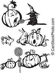 Happy Halloween - vector set.