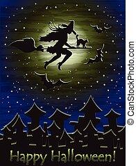 Happy Halloween wallpaper, vector illustration