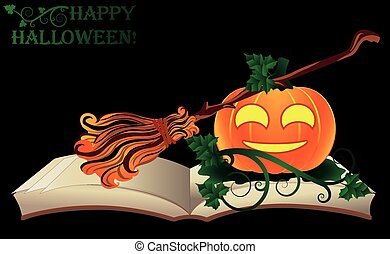 Happy Halloween. Witch old book