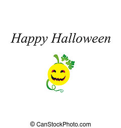 Happy Halloween with Smiley Face