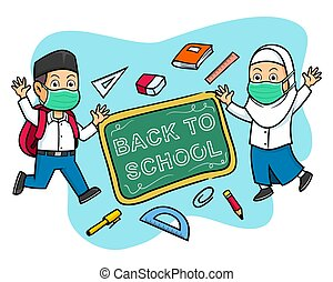 Happy Hand Drawn Student Give Back To School Greeting - ...