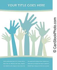Happy hands design. - Happy hands design with copy space ...