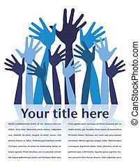 Happy hands with copy space vector. - Happy hands with copy ...