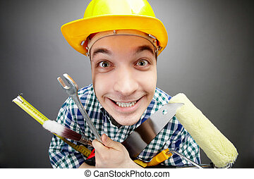 Happy handyman