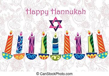 Happy Hannukah greeting card design
