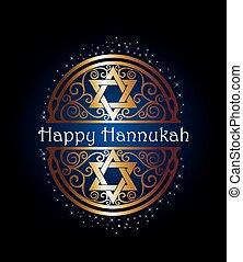 Happy Hannukah illustration - Vector Hannukah illustration