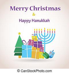 happy Hanukkah and merry christmas - happy Hanukkah and...