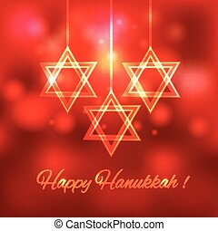 Happy Hanukkah blurred background