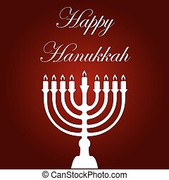Happy Hanukkah card template.