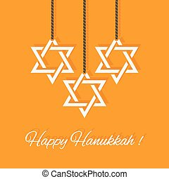 Happy Hanukkah card - vector illustration. eps 8