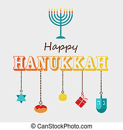 Happy Hanukkah greeting card design. - Happy Hanukkah ...