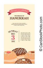 Happy Hanukkah greeting card , party invitation
