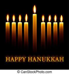 Happy Hanukkah. - Vector Happy Hanukkah greeting card with...