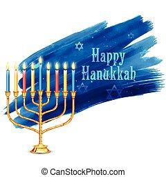 Happy Hanukkah, Jewish holiday background