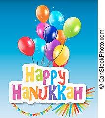 Happy Hanukkah, Jewish Holiday Background. Vector Illustration.