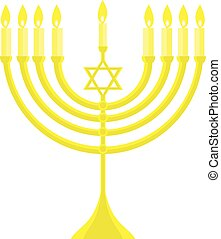 happy Hanukkah, Jewish holiday. menorah