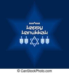 Happy Hanukkah. Jewish holiday. Vector background.