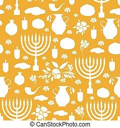 Happy Hanukkah seamless background.
