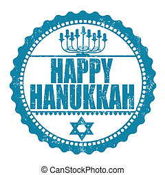 Happy Hanukkah stamp - Happy Hanukkah rubber grunge stamp...
