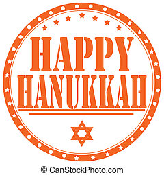 Happy Hanukkah-stamp