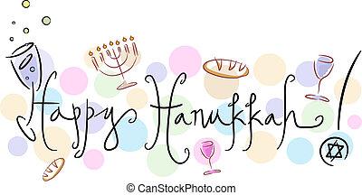 Happy Hanukkah - Text Featuring the Words Happy Hanukkah