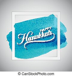 Happy Hanukkah. Vector Holiday Religion Illustration. Jewish...