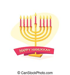 Happy Hanukkah, vector illustration