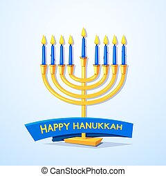 Happy Hanukkah vector illustration