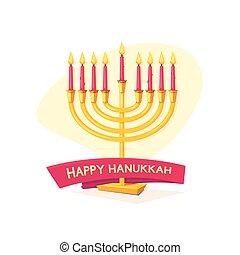 Happy Hanukkah, vector illustration