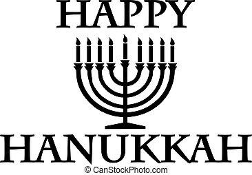 Happy hanukkah with candleholder