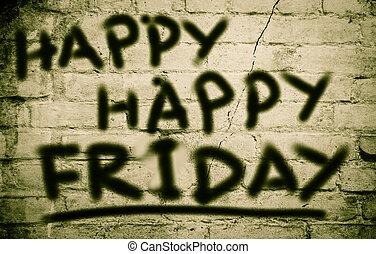 Happy Happy Friday Concept