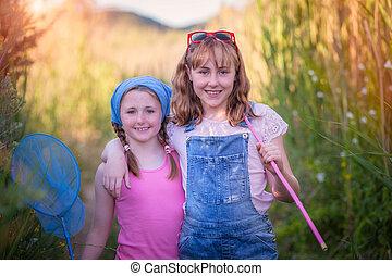 happy healthy outdoor summer kids or children