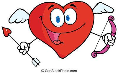 Heart Cupid With A Bow And Arrow