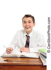 Happy high school student