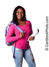Happy highschool college student - Happy smiling female...