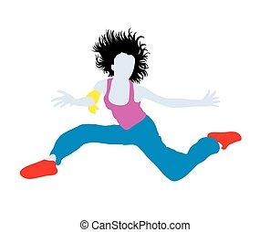 Happy Hip Hop Dancer