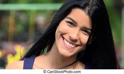 Happy Hispanic Teen
