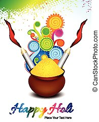 happy holi background with explode