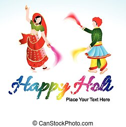 happy holi background with traditio