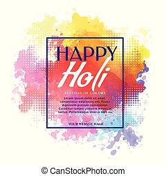 happy holi banner design invitation template