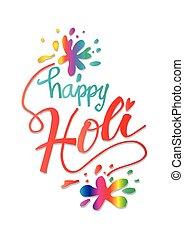 Happy Holi card design.