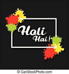 happy holi festival design