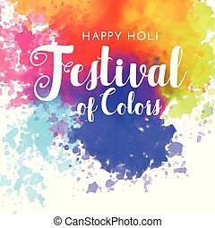 happy holi festival of colors background